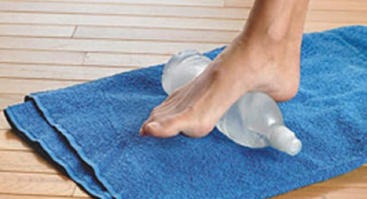 Water bottle massage therapy for plantar fasciitis