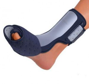 Futuro night splint on foot